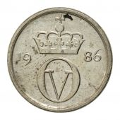 Coin, Norway, Olav V, 10 Öre, 1986, EF(40-45), Copper-nickel, KM:416