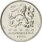 Coin, Czech Republic, 5 Korun, 1994, EF(40-45), Nickel plated steel, KM:8
