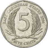 Coin, East Caribbean States, Elizabeth II, 5 Cents, 2004, British Royal Mint