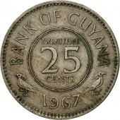 Coin, Guyana, 25 Cents, 1967, EF(40-45), Copper-nickel, KM:34