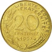 Coin, France, Marianne, 20 Centimes, 1997, Paris, EF(40-45), Aluminum-Bronze