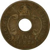 Coin, EAST AFRICA, George V, 5 Cents, 1924, VF(20-25), Bronze, KM:18