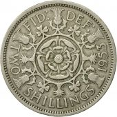 Coin, Great Britain, Elizabeth II, Florin, Two Shillings, 1953, EF(40-45)