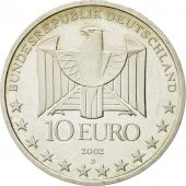 GERMANY - FEDERAL REPUBLIC, 10 Euro, 2002, MS(63), Silver, KM:216