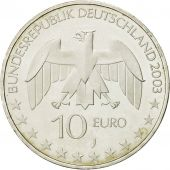 GERMANY - FEDERAL REPUBLIC, 10 Euro, 2003, MS(63), Silver, KM:222