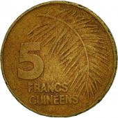 Coin, Guinea, 5 Francs, 1985, VF(30-35), Brass Clad Steel, KM:53