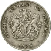 Coin, Nigeria, Elizabeth II, 10 Kobo, 1973, EF(40-45), Copper-nickel, KM:10.1