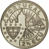 Portugal, 2-1/2 Escudos, 1991, MS(63), Copper-nickel