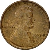 Coin, United States, Lincoln Cent, Cent, 1938, U.S. Mint, Philadelphia
