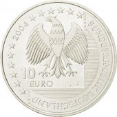 GERMANY - FEDERAL REPUBLIC, 10 Euro, 2004, MS(63), Silver, KM:232