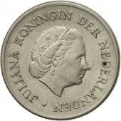 Coin, Netherlands, Juliana, 25 Cents, 1955, AU(50-53), Nickel, KM:183