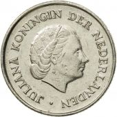 Coin, Netherlands, Juliana, 25 Cents, 1972, AU(50-53), Nickel, KM:183