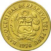 Monnaie, Pérou, Sol, 1976, Lima, SUP, Laiton, KM:266.1