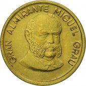 Monnaie, Pérou, 20 Centimos, 1986, Lima, SUP, Laiton, KM:294