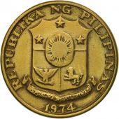 Monnaie, Philippines, 5 Sentimos, 1974, TTB, Laiton, KM:197