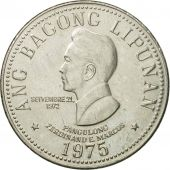 Coin, Philippines, 5 Piso, 1975, MS(63), Nickel, KM:210.1