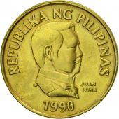 Monnaie, Philippines, 25 Sentimos, 1990, SPL, Laiton, KM:241.1
