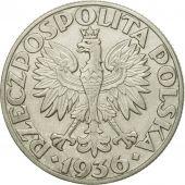Coin, Poland, 5 Zlotych, 1936, Warsaw, AU(55-58), Silver, KM:31