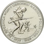 Coin, Poland, 500 Zlotych, 1989, Warsaw, MS(60-62), Copper-nickel, KM:185