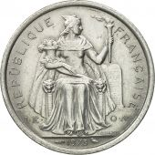 Coin, French Polynesia, 2 Francs, 1973, Paris, AU(55-58), Aluminum, KM:10