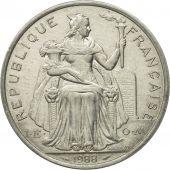 Coin, French Polynesia, 5 Francs, 1988, Paris, AU(55-58), Aluminum, KM:12