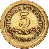 Coin, Portugal, 5 Centavos, 1924, VF(20-25), Bronze, KM:572