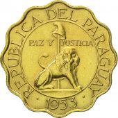 Coin, Paraguay, 25 Centimos, 1953, AU(55-58), Aluminum-Bronze, KM:27
