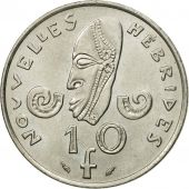 Monnaie, New Hebrides, 10 Francs, 1975, Paris, TTB+, Nickel, KM:2.2