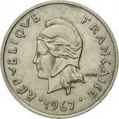 Monnaie, French Polynesia, 10 Francs, 1967, Paris, TTB+, Nickel, KM:5