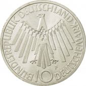 Coin, GERMANY - FEDERAL REPUBLIC, 10 Mark, 1972, Stuttgart, MS(63), Silver