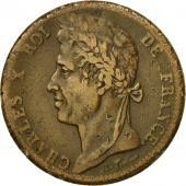 Coin, FRENCH COLONIES, Charles X, 10 Centimes, 1828, Paris, VF(30-35), Bronze