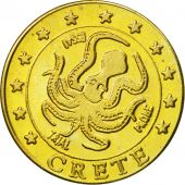 Crete, Medal, Essai 20 cents, 2004, MS(63), Brass
