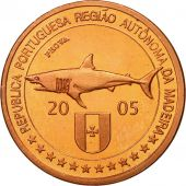 MADEIRA ISLANDS, Medal, Essai 5 cents, 2005, MS(63), Copper