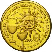 MADEIRA ISLANDS, Medal, Essai 10 cents, 2005, MS(63), Brass