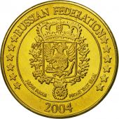 Russia, Medal, Essai 10 cents, 2004, MS(63), Brass