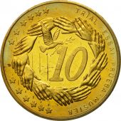 Poland, Medal, Essai 10 cents, 2004, MS(63), Brass