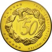 Poland, Medal, Essai 50 cents, 2004, MS(63), Brass