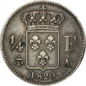 France, Charles X, 1/4 Franc 1829 A (Paris), KM 722.1