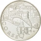 France, 10 Euro, Corse, 2011, MS(63), Silver, KM:1740