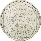 France, 10 Euro, Mayotte, 2011, MS(63), Silver, KM:1726
