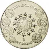 Coin, Liberia, 5 Dollars, Vatican, 2004, MS(65-70), Silver