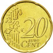Monaco, 20 Euro Cent, 2002, MS(63), Brass, KM:171