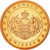 Monaco, 2 Euro Cent, 2004, MS(65-70), Copper Plated Steel, KM:168
