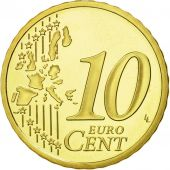 Monaco, 10 Euro Cent, 2004, MS(65-70), Brass, KM:170