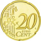 Monaco, 20 Euro Cent, 2004, MS(65-70), Brass, KM:171