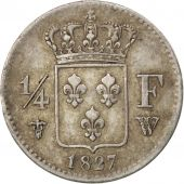 France, Charles X, 1/4 Franc 1827 W (Lille), KM 722.12