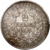 France, IIIe République, 2 Francs Cérès 1887 A (Paris), PCGS MS62, KM 817.1