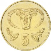Chypre, 5 Cents, 1983, TTB+, Nickel-brass, KM:55.1