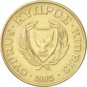 Chypre, 10 Cents, 1983, TTB+, Nickel-brass, KM:56.1