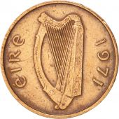 IRELAND REPUBLIC, 1/2 Penny, 1971, TTB+, Bronze, KM:19